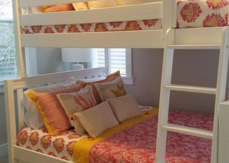 Custom Designed Family Bunk-bed w/Queen bed on the bottom and Full bed on top.