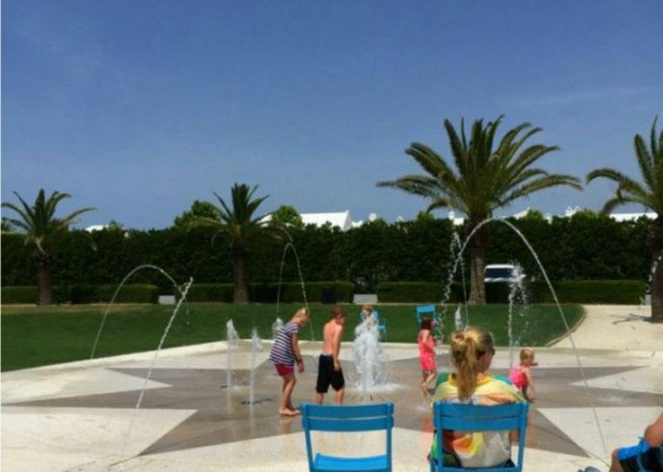 A short bike ride is one of the many parks in Alys Beach.