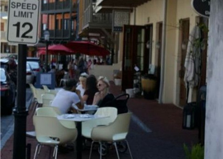 Time to slow down at one of the many quint restaurants at Rosemary Beach.