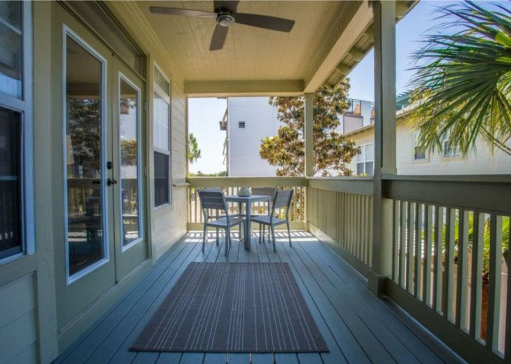 Enjoy your time outside on the upstairs balcony!