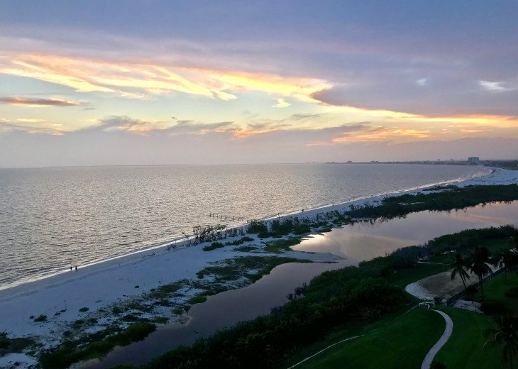 Watch the sunset from your balcony!