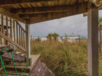 steps off back Deck Gets ya To Beach