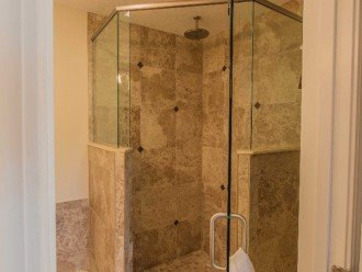 Walk in Glass Tile Shower SOOTHING