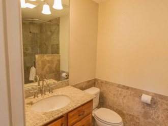 Granite with walk in shower Also