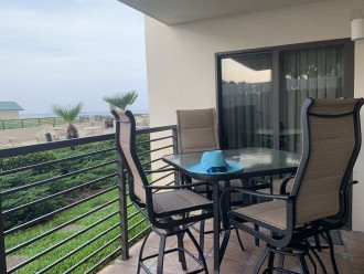 Large Patio with easy access to the pool and beach