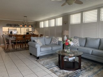 Dining and Living room with queen sleeper sofa