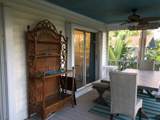 Hutch/bar on screen porch