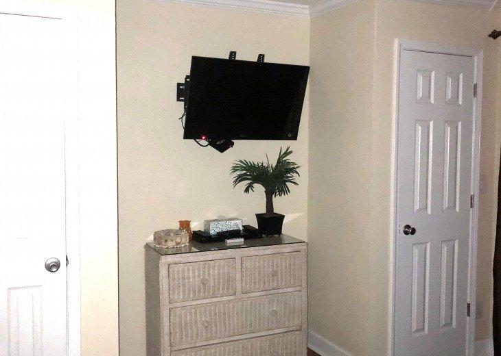 MASTER BEDROOM CLOSETS & TV