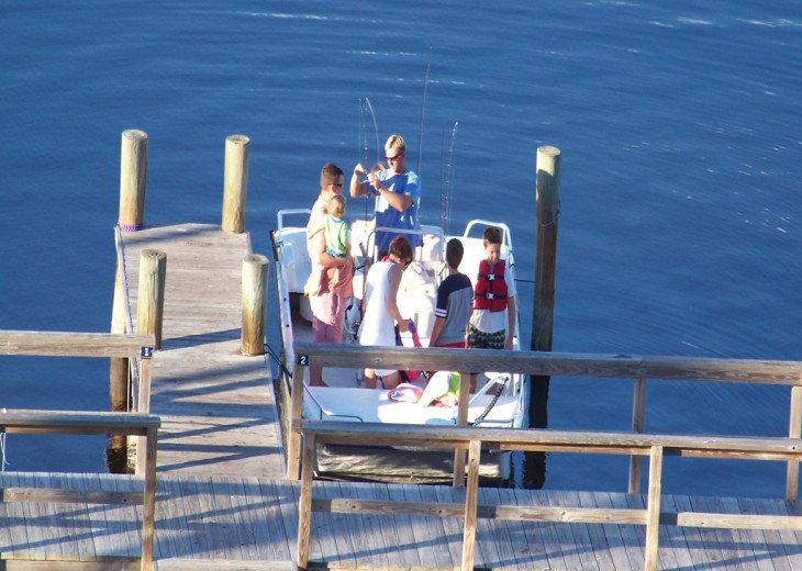 FISHING AT THE DOCK