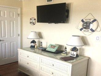 TWIN BEDROOM CHEST CLOSET & TV