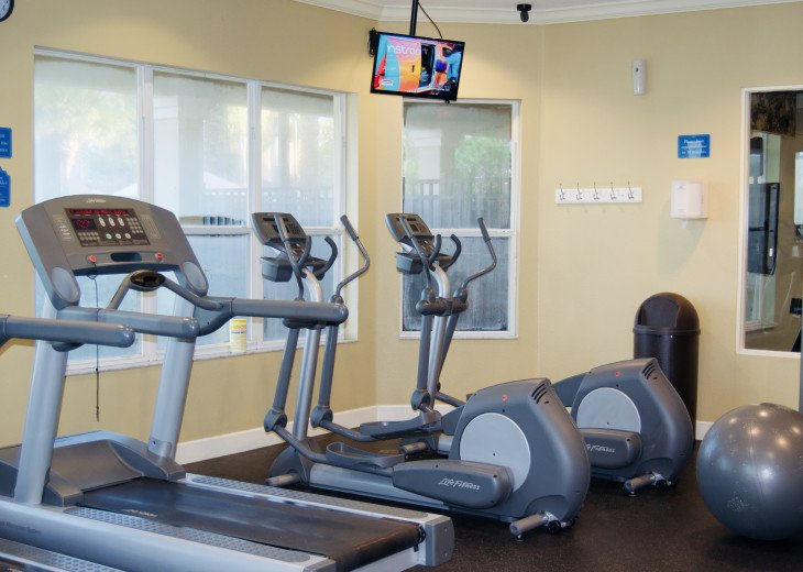 Free gym access at the Clubhouse