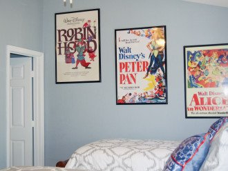 Children's bedroom in 'Classic' Disney theme. Located upstairs