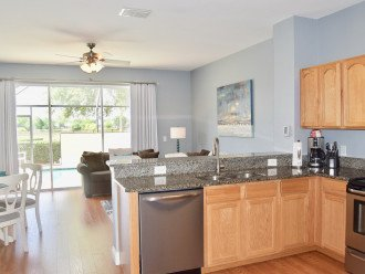 Fully equipped kitchen with granite counter tops