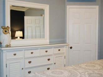 King sized master bedroom located upstairs