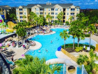 Community pool and waterslides FREE to use for all of our guests !