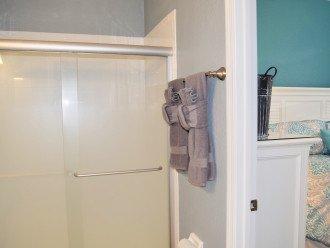 Main level bathroom with Queen bedroom privileges.
