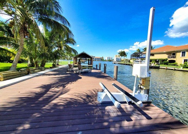 Dock with Jet Ski lift