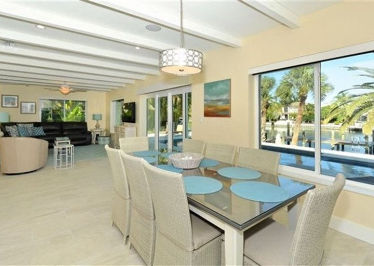 St. Armand's Canal-front Pool Home ~ freshly remodeled and steps to the beach! #27