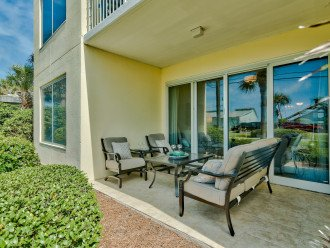 Your ground floor porch area just steps from the beach