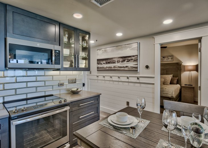Gourmet kitchen that is fully stocked