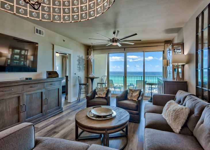 Gulf Views from the kitchen and Living room