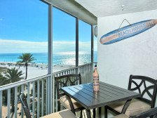 Beach front- Gulf View -Newly Renovated steps to #1 beach Ocean front 2 suites #1
