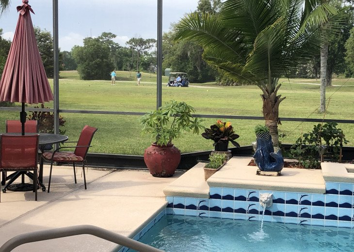 ON THE GOLF COURSE, HEATED SPA-LIKE POOL, ENCLOSED LANAI, CLOSE TO THEME PARKS! #27