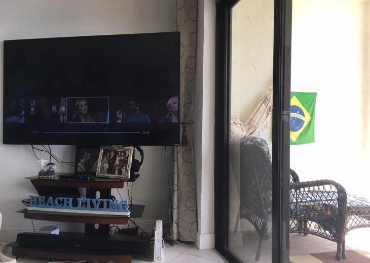 65 inch TV with computer and INternet TV Box