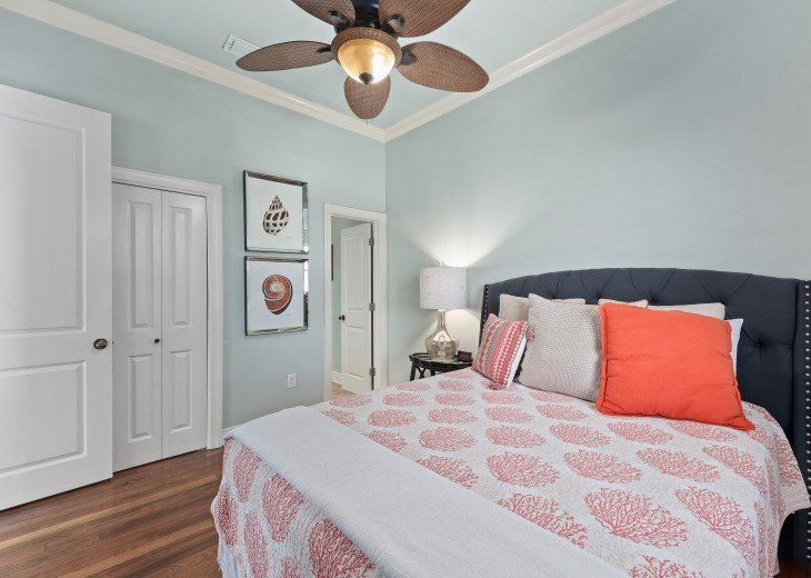Queen ensuite bedroom with full private bathroom on second main level