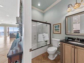Second level hall full bathroom