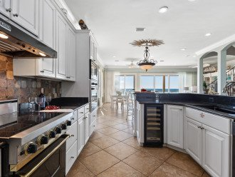 Relax cooking on viking appliances while looking out at the beach!