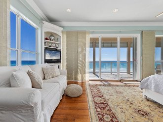 Awesome views of the blue green water from the Master Bedroom! Sleeper sofa!