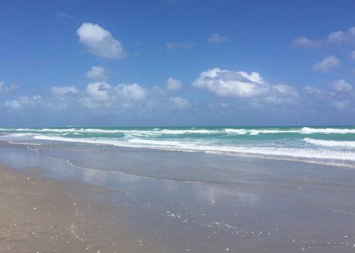 Beautiful beach at low tide