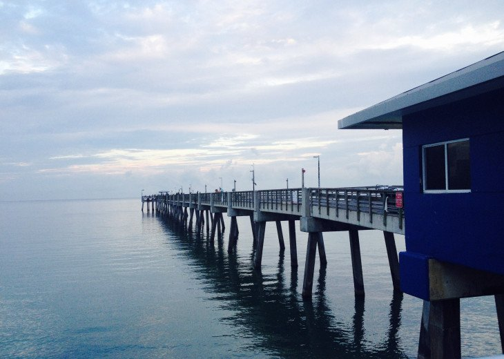 Walk to the Dania Pier & enjoy seafood perched over the waves, or catch your own