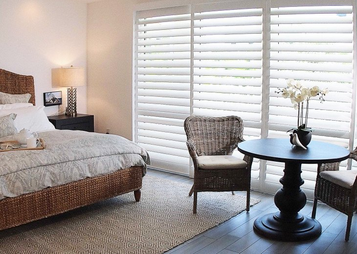 South Master Suite has it all -- large walk-in, lux ensuite and 60-inch TV