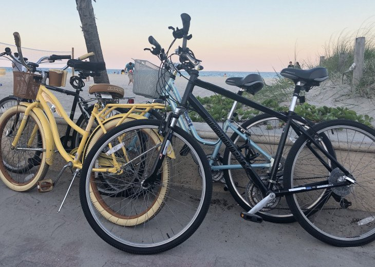 House comes with four beach cruisers
