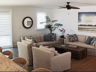 Restoration Hardware furnishings and beachy decor