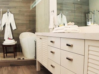 South Master ensuite with massive shower room, soaker tub and double vanity