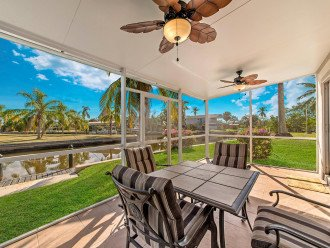 Main Floor Lanai with lovely views of surrounding canals and tropical vegetation