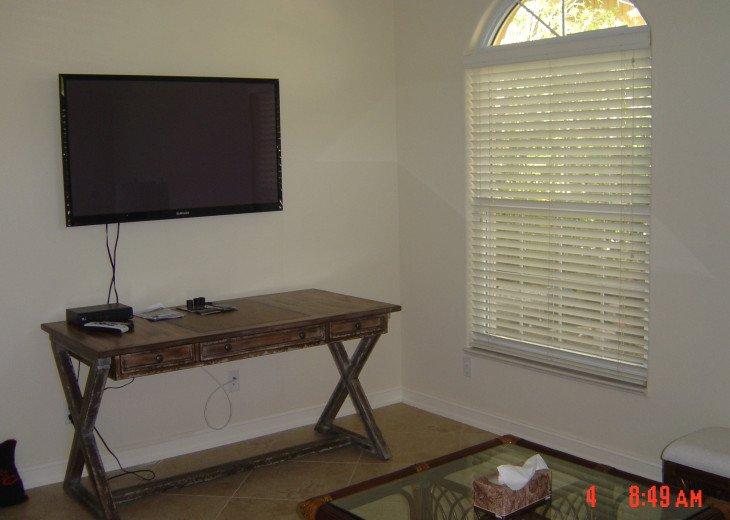 Flat-Screen TV in Office/Den - Naples Vacation Rental