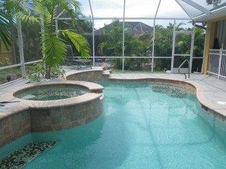Heated Swimming Pool/Hot Tub in Enclosed Backyard Lanai - Naples Vacation Rental