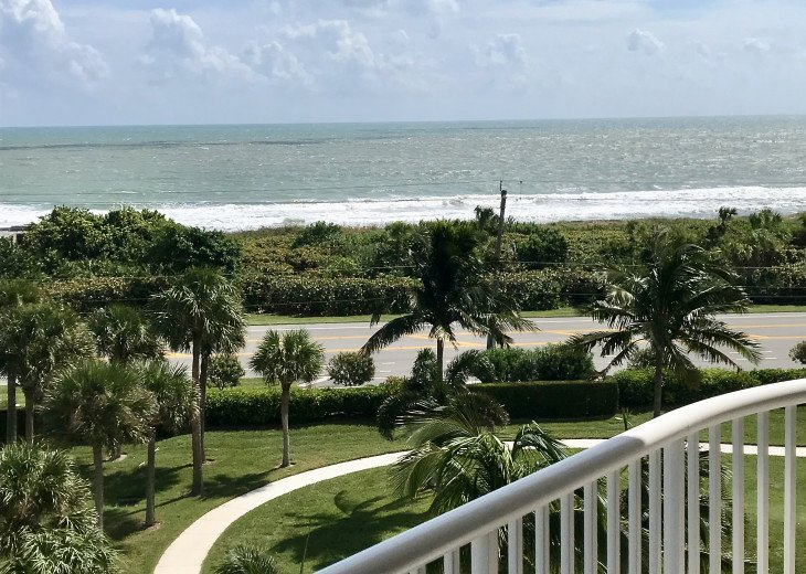 Ocean view from balcony- Summer Winds Condo