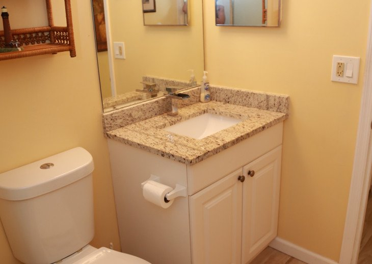 Guest bathroom with full shower