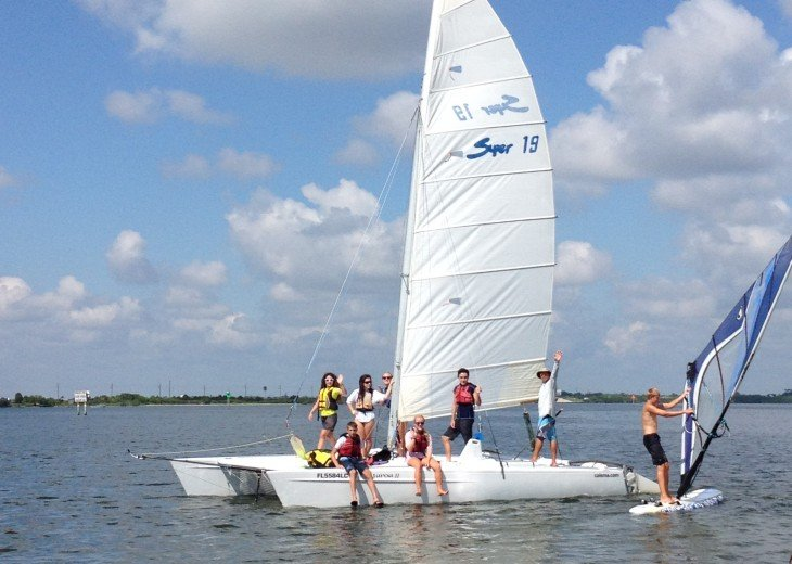 Take the family out on a Sailing Adventure! See dolphins, manatees and more!