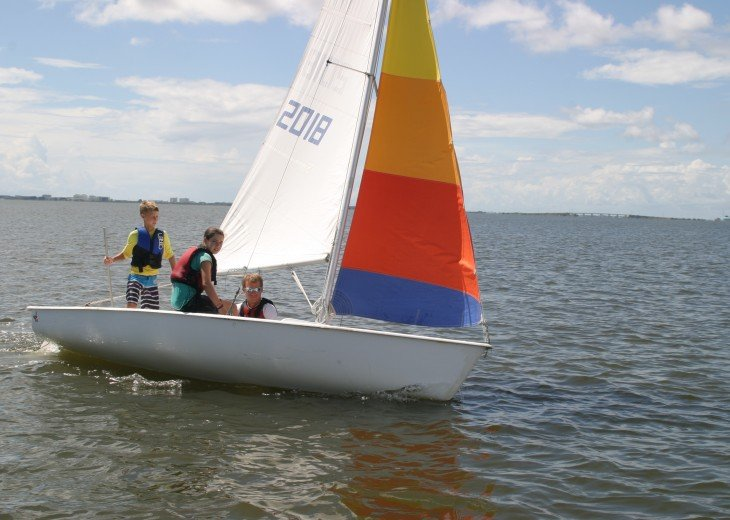 Learn to Sail while you visit. Calema teaches ALL ages - Kids to young at heart