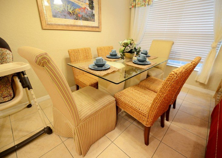dining area with high chair