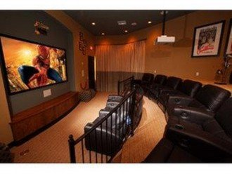 Movie theater in clubhouse.