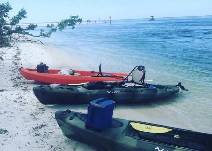 Kayaking in the estuaries, rentals at D-WSP and Barefoot Beach
