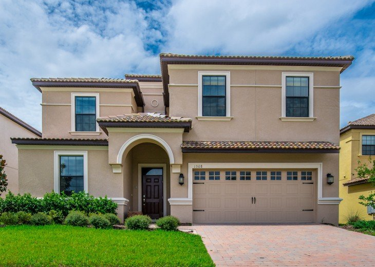 BRAND NEW, LUXURIOUS 9 Bed 5 Bath Champions Gate pool home with game room CG1308 #2