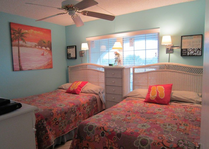 Guest bedroom has TWO FULL SIZE PILLOW TOP BEDS for extra comfort.
